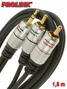 Prolink Exclusive kabel Jack 3,5 mm - 2RCA 1,8 m