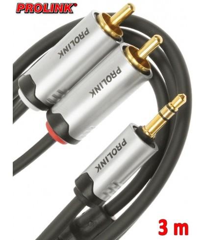 Prolink Futura kabel Jack 3,5 mm - 2RCA 3 m