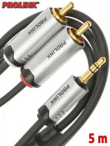 Prolink Futura kabel Jack 3,5 mm - 2RCA 5 m