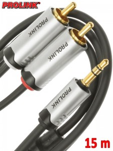 Prolink Futura kabel Jack 3,5 mm - 2RCA 15 m