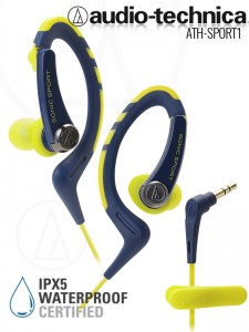 Audio-Technca ATH-Sport1 Navy-Yellow