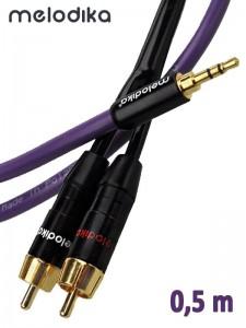 Melodika kabel Jack 3,5 mm - 2RCA 0,5 m