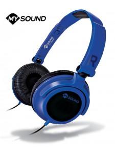 Słuchawki nauszne MySound Speak Smart z mikrofonem - Niebieskie