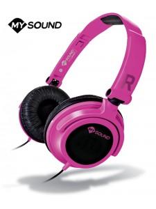 Słuchawki nauszne MySound Speak Smart z mikrofonem - Różowe