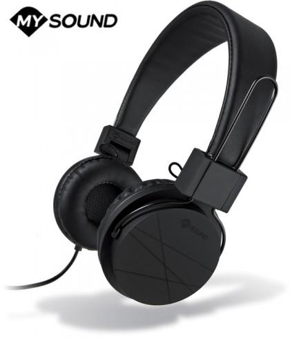 Słuchawki nauszne MySound Speak Street z mikrofonem - Czarne