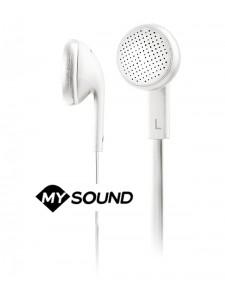 Słuchawki douszne z mikrofonem MySound Speak Flat - Białe