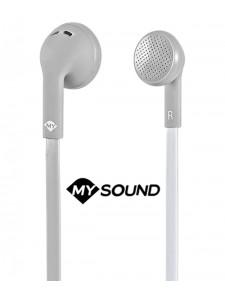 Słuchawki douszne z mikrofonem MySound Speak Flat - Szare