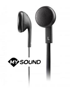 Słuchawki douszne z mikrofonem MySound Speak Flat - Czarne