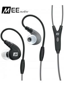 Słuchawki dokanałowe MEE Audio M7P z mikrofonem - Czarne