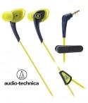 Słuchawki douszne, wodoodporne Audio-Technica ATH-SPORT2 - Żółte