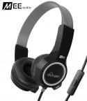 Słuchawki nauszne dla dzieci MEE Audio KidJamz 2 z mikrofonem - Czarne