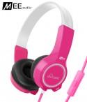 Słuchawki nauszne dla dzieci MEE Audio KidJamz 2 z mikrofonem - Różowe
