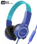 Słuchawki nauszne dla dzieci MEE Audio KidJamz 2 z mikrofonem - Niebieskie