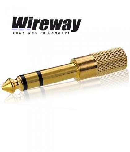 Przejściówka Jack 6.3mm - Jack 3.5mm WIREWAY