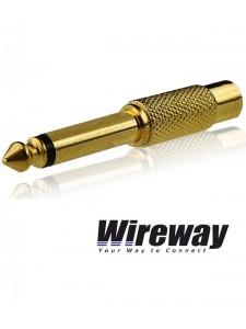 Przejściówka Jack 6.3mm - RCA Wireway