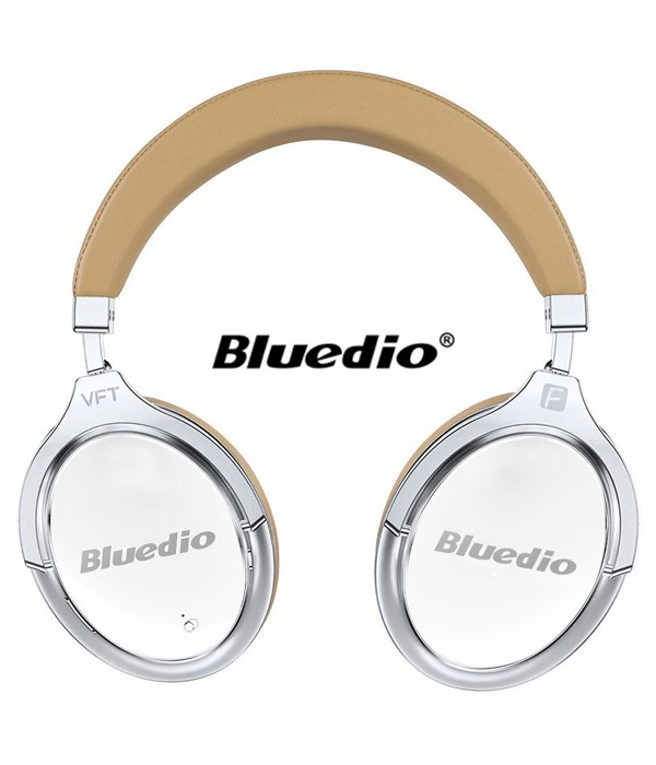 Słuchawki nauszne BLUETOOTH BLUEDIO F2 z mikrofonem - białe