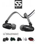 Słuchawki dokanałowe Brainwavz S5 + etui