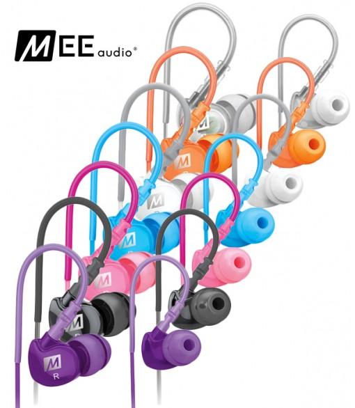 MEE Audio M6 - dokanałowe słuchawki sportowe IPX5